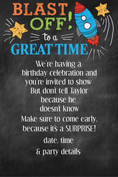 birthday announcement template
