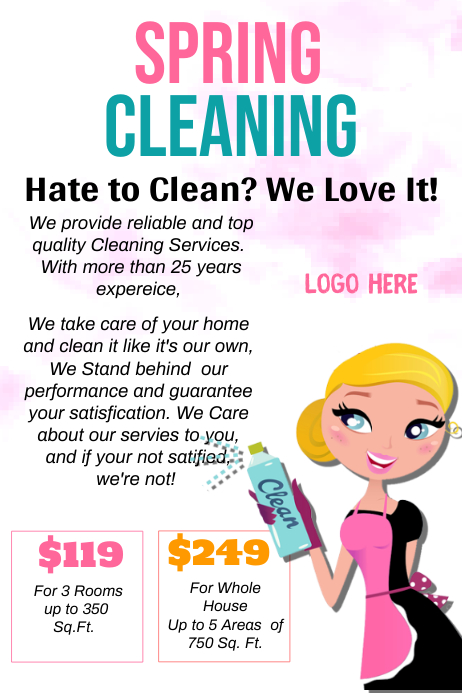 cleaning flyer ideas - Josemulinohouse - house cleaning flyer