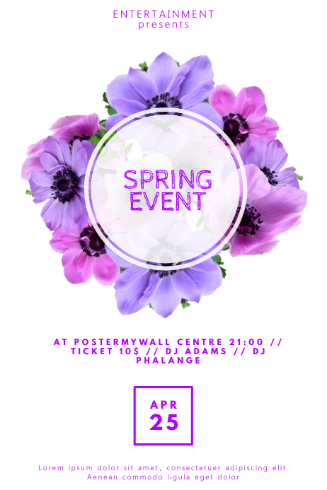 Spring Event Flyer Template for Spring PosterMyWall