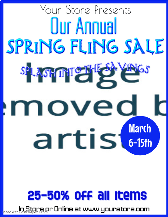 Spring Fling Sale Flyer Template PosterMyWall