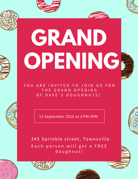 Sweets Shop Grand Opening Flyer Template PosterMyWall