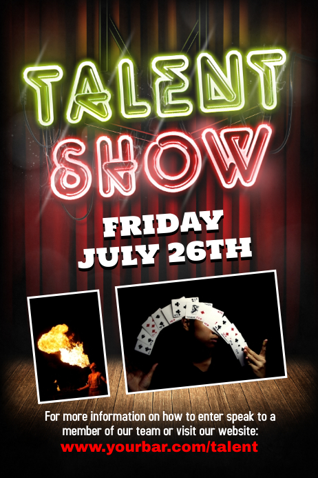 talent show flyer background