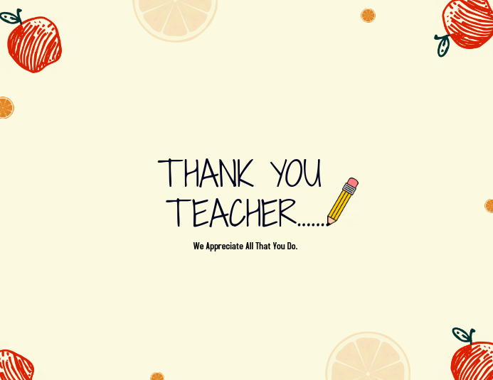 Teacher\u0027s Thank you Card template PosterMyWall