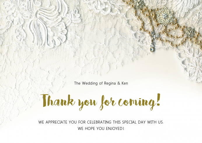 Thank you for coming online greeting card Template PosterMyWall