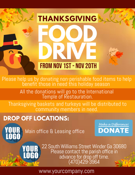 food drive flyers templates - Alannoscrapleftbehind - benefit flyer template