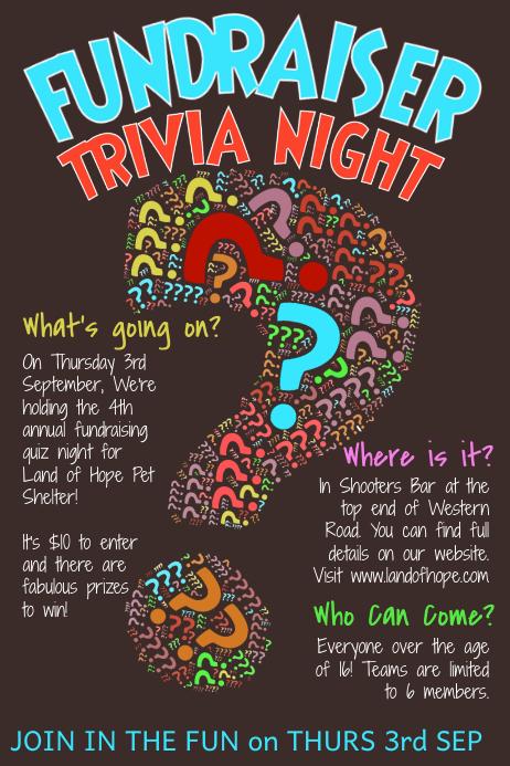 trivia night poster template - Baskanidai