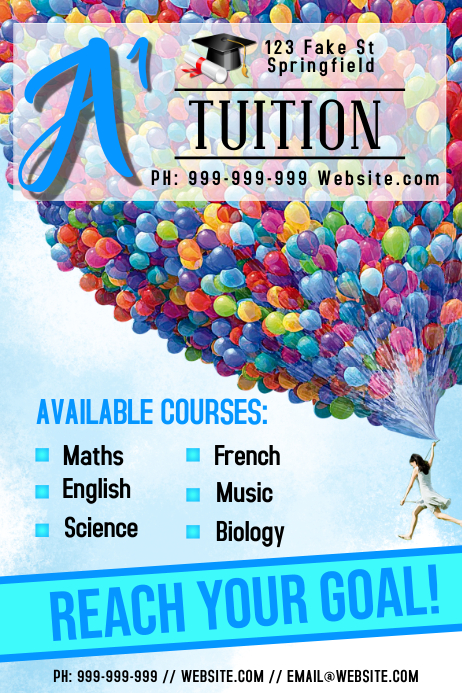 Tuition Poster Template PosterMyWall