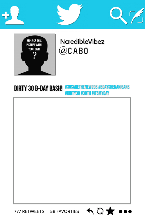Twitter Party Prop Frame Template PosterMyWall