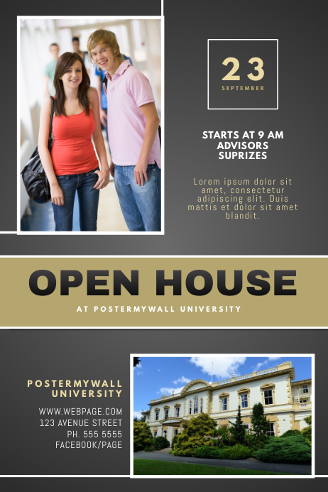 University Open House Flyer Template PosterMyWall
