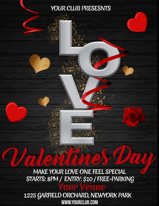valentine\u0027s party flyer Template PosterMyWall