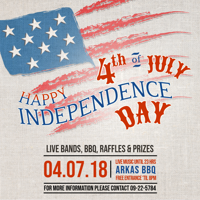 Vintage Independence Day Flyer Instagram Post Template PosterMyWall