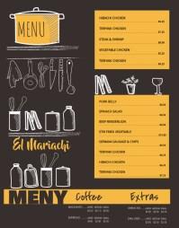 wall Board Menu Card Template | PosterMyWall