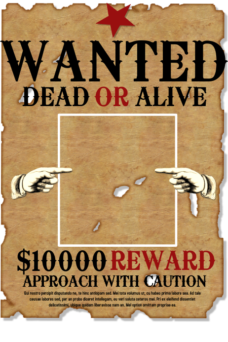 wanted posters template - Leonescapers