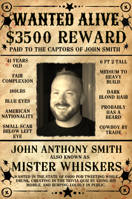 Wanted Poster Template PosterMyWall