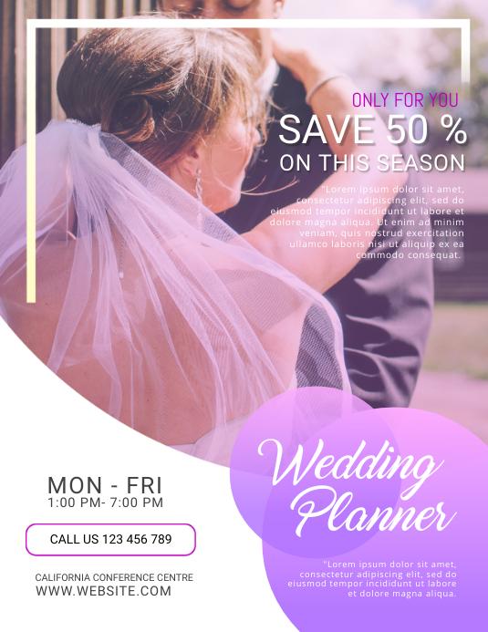 Wedding Planner Flyers Designs