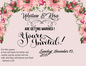 Customize 900 Wedding Invitation Templates Postermywall