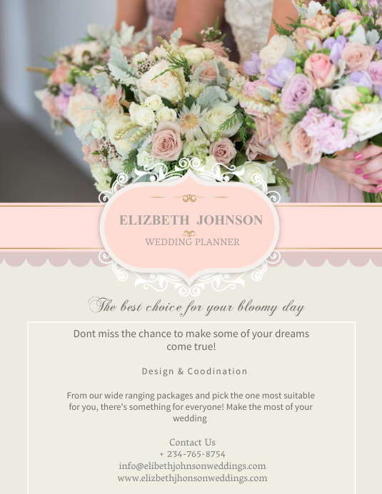 Wedding Planner Flyer Template PosterMyWall