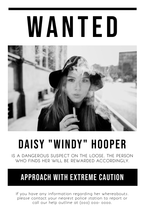 White and Black Wanted Poster Template PosterMyWall