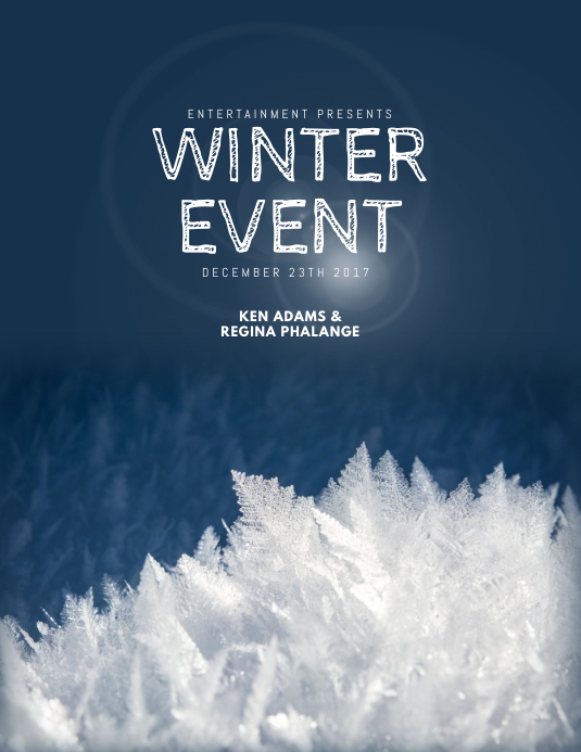 Winter Event Flyer Template PosterMyWall