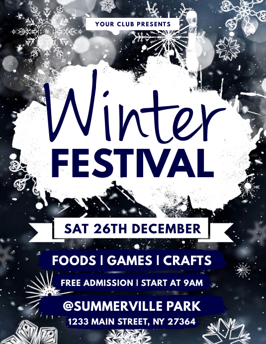 Copy of Winter Festival Flyer PosterMyWall