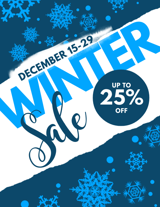 Winter Sale Flyer Template PosterMyWall