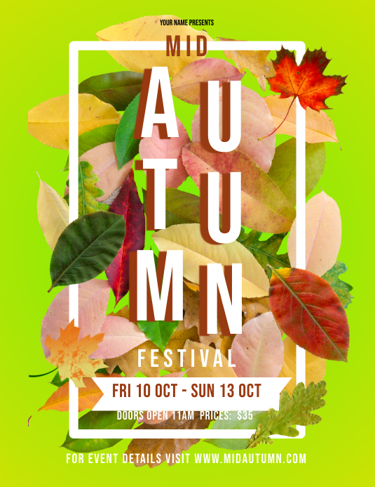 Yellow Autumn Festival Flyer Template PosterMyWall