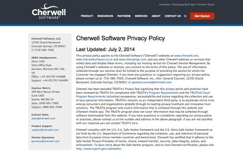 Cherwell Software Competitive Intelligence and Insights Crayon