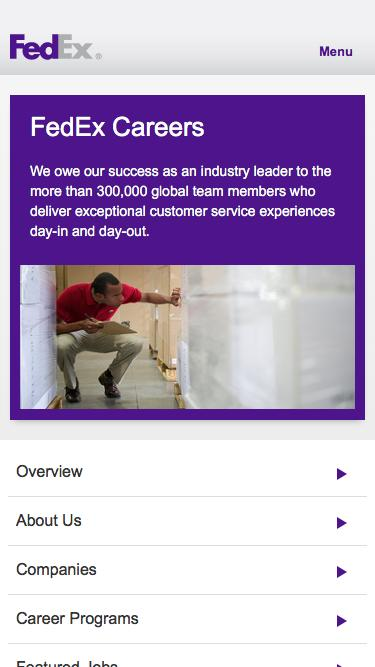 Jobs Pages on WordPress Website Inspiration and Examples Crayon - fedex careers