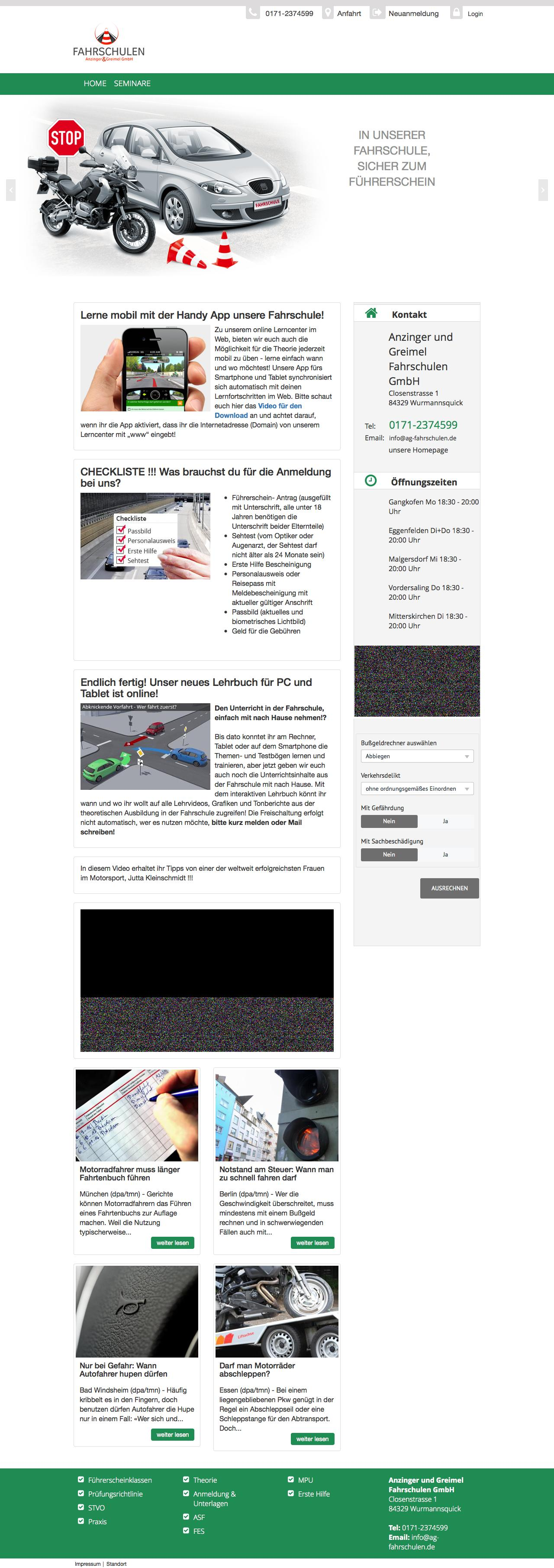Test Optiker 2015 Web Design Example A Page On Ag Fahrschulen Theorie De