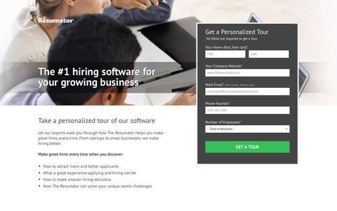 Software Landing Pages Website Inspiration and Examples Crayon - The Resumator