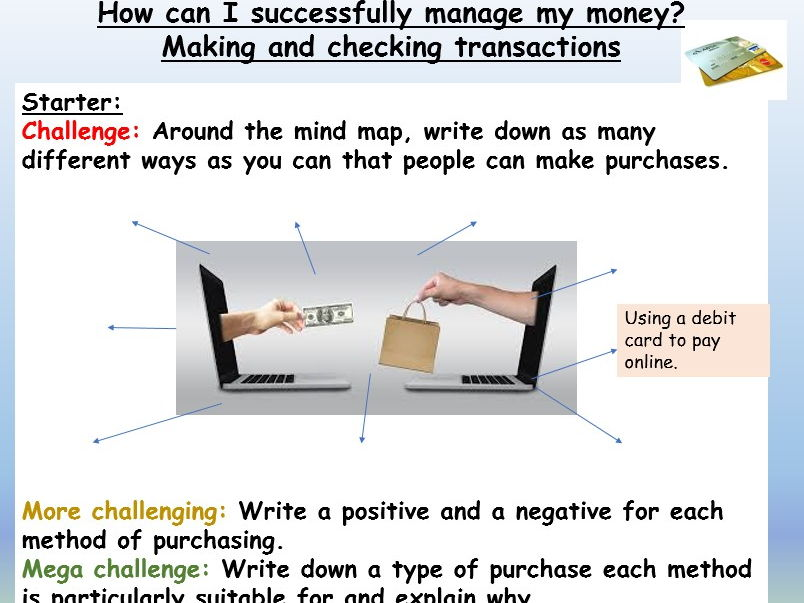 Finance  Money Management PSHE Lesson by EC_Resources - Teaching