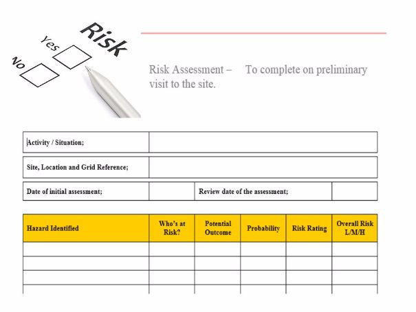 Risk assessment forms by chalkie_bunny - Teaching Resources - Tes - risk assessment