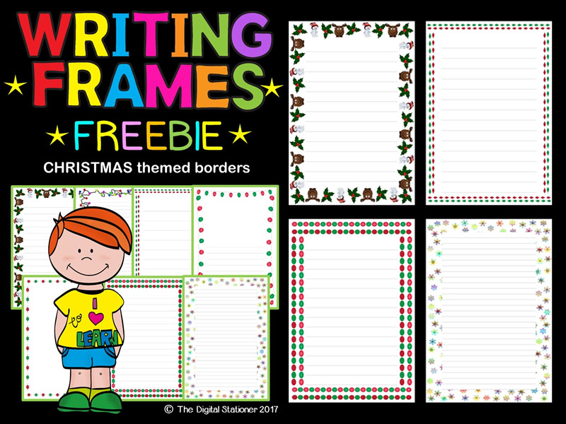 Christmas Winter Writing Frames, Page Borders FREEBIE - 35