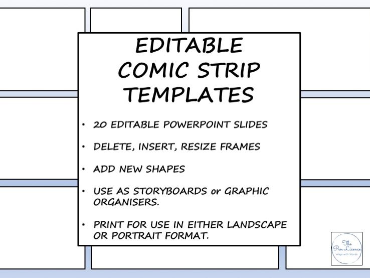 Editable Comic Strip Templates by ThePenLicence - Teaching Resources