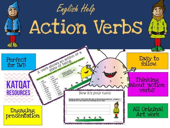 Action Verbs by KatQatresources - Teaching Resources - Tes