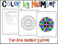 The Real Number System Color by Number by charlotte ...