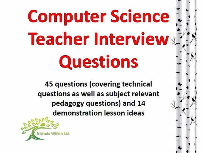 Computer Science teacher interview questions and demo lesson ideas - interview questions for teachers