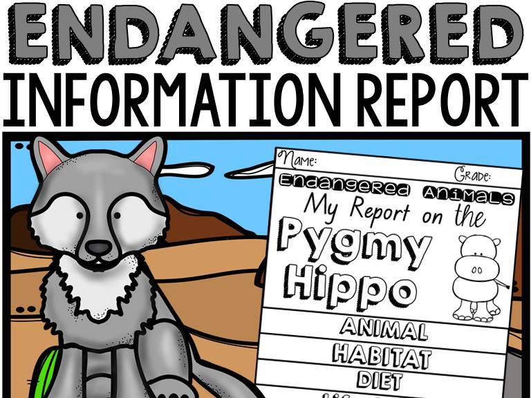ANIMAL REPORT ENDANGERED ANIMALS INFORMATIVE WRITING RESEARCH