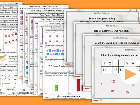FREE Year 1/2 Mixed Age Autumn Block 1 Step 1 Maths Lesson Pack by