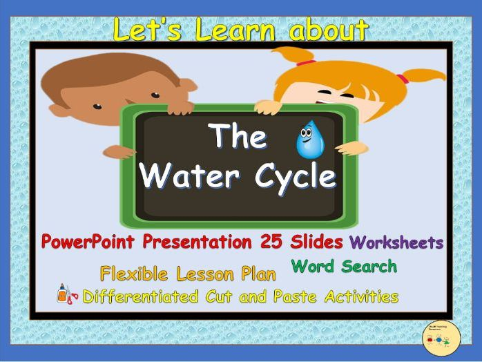 Water Cycle - PowerPoint Presentation, Lesson Plan, Worksheets, Cut
