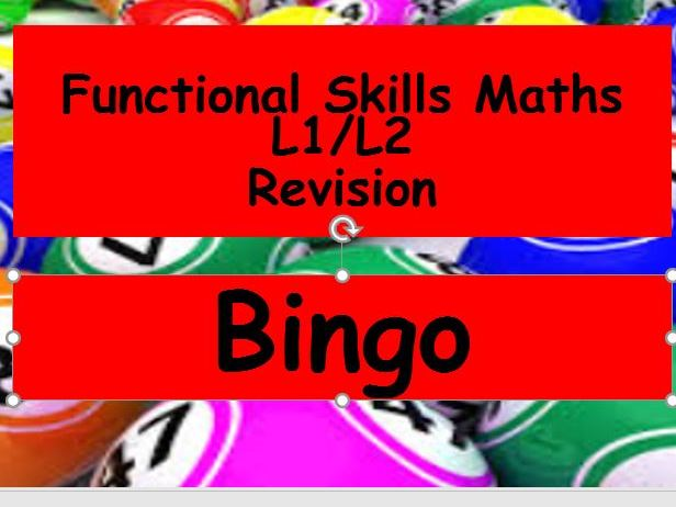 Functional Skills Maths Revision Bingo L1 and L2 with answers by