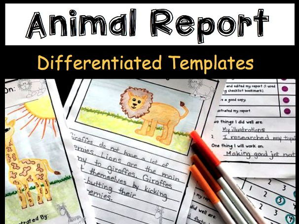 Informative Writing Templates - Animals by TeachingWithATouchOfHoney