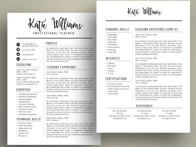 Modern teacher resume cv template for MS PowerPoint (pptx) by - Resume/cv Template