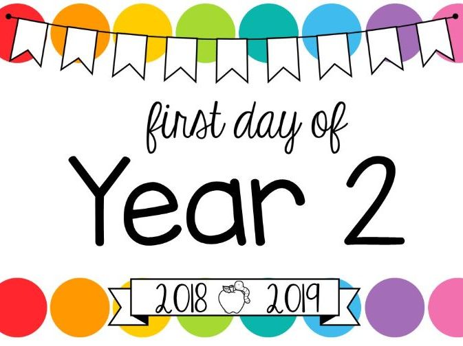 First Day of School Signs **Editable** (Rainbow Pop) by