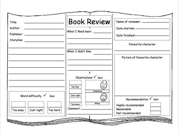 Book Review Template by ChrisWat - Teaching Resources - Tes - book review template