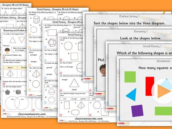 FREE Year 2 Recognise 2D and 3D Shapes Spring Block 3 Step 1 Lesson