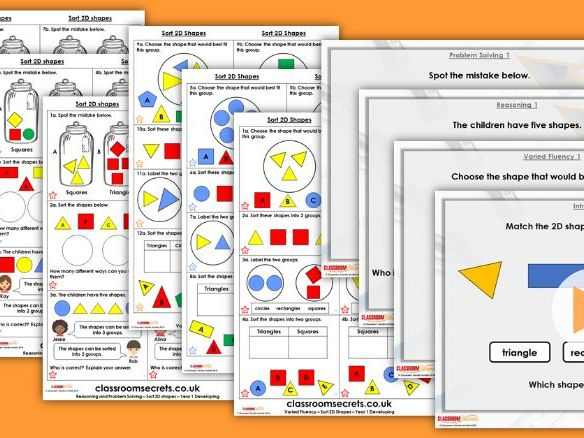 2D and 3D shape posters by Wolfblass - Teaching Resources - Tes