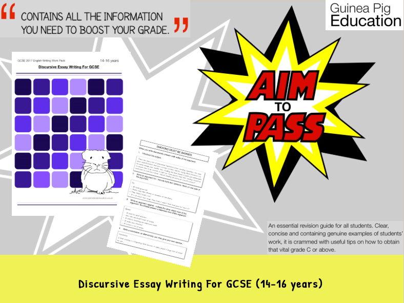 Discursive Essay Writing For GCSE Creative Writing (GCSE 2017