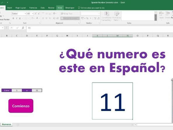 Random number generator for Spanish by ginnygould - Teaching