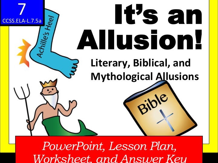 It\u0027s an ALLUSION! (Literary, Biblical and Mythological Allusions) by